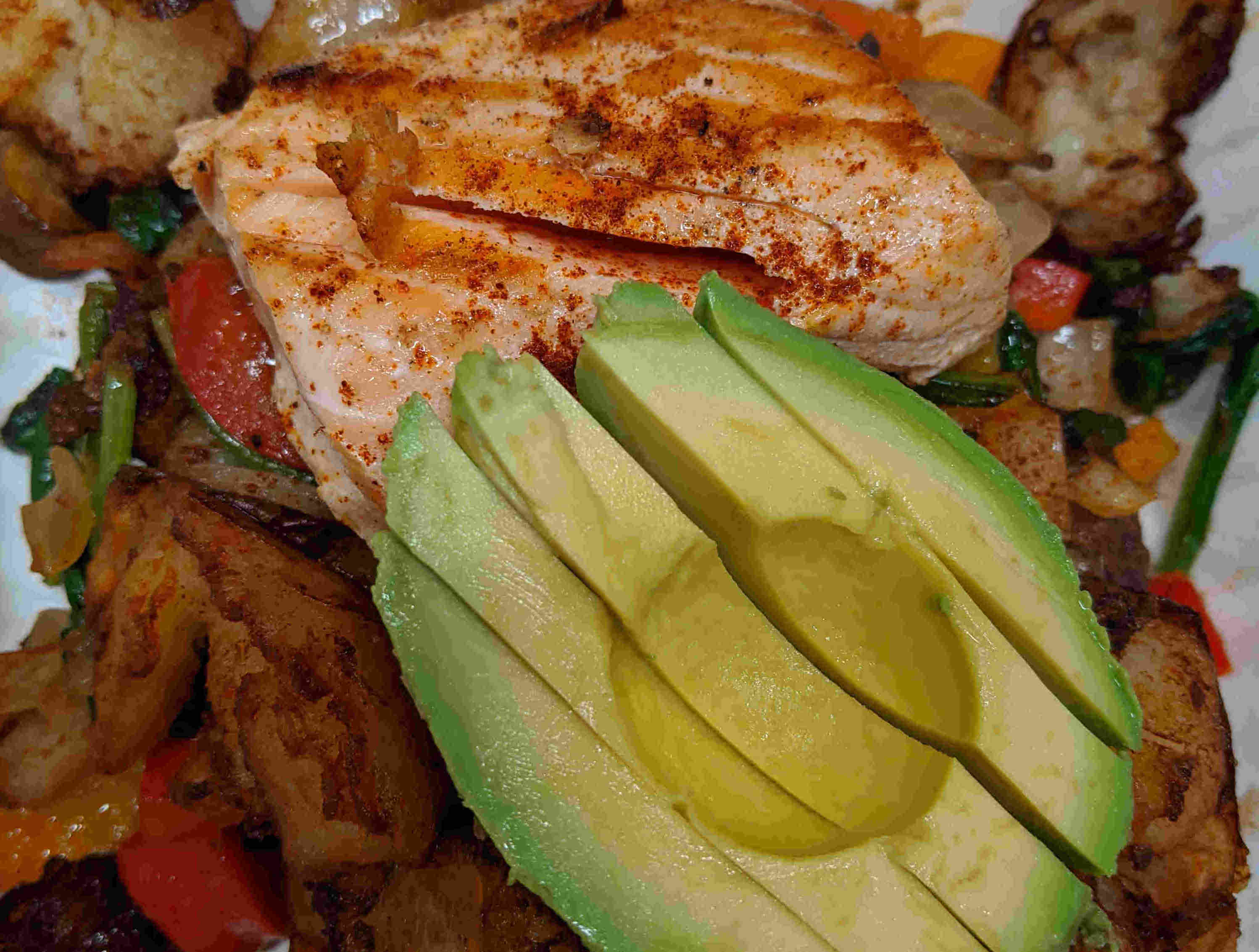 Salmon Avocado Hash